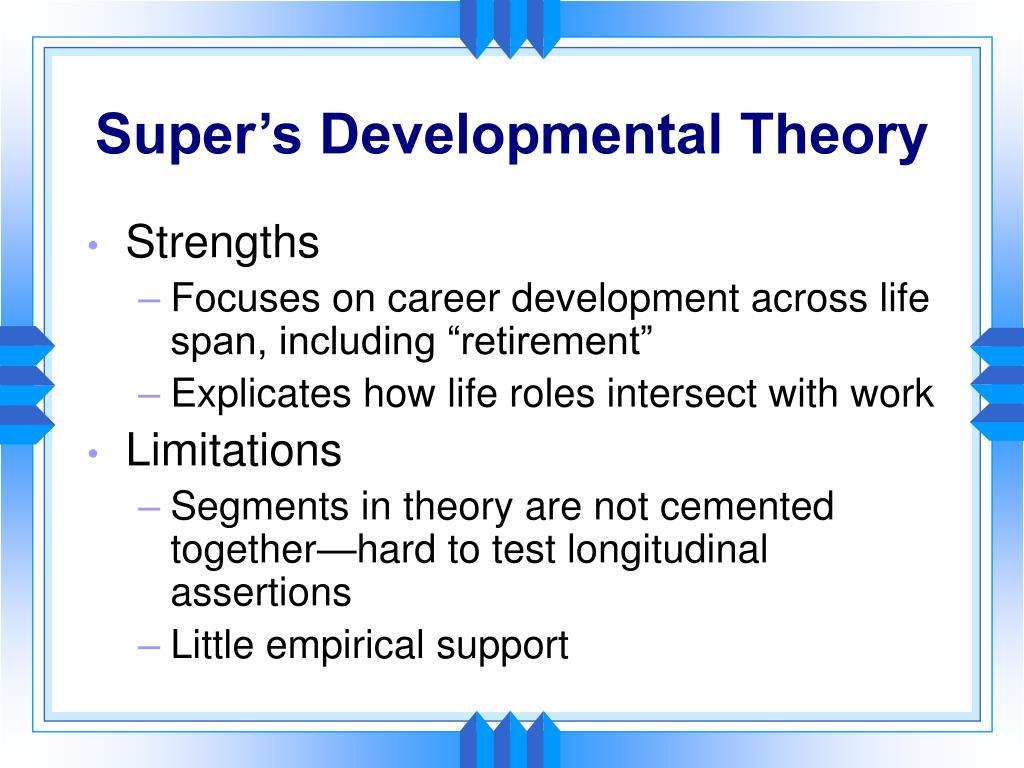Super's Developmental Theory