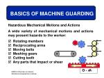 basics of machine guarding11