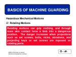 basics of machine guarding16