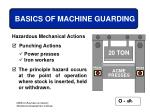 basics of machine guarding23