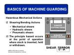 basics of machine guarding24