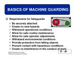basics of machine guarding25