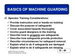 basics of machine guarding27