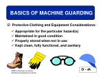 basics of machine guarding30