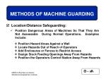methods of machine guarding58