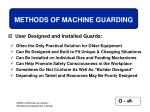 methods of machine guarding64