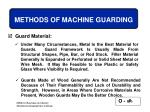 methods of machine guarding67