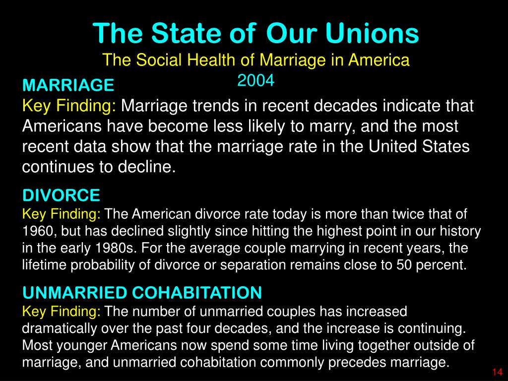 The State of Our Unions