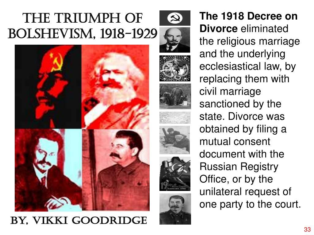 The 1918 Decree on Divorce