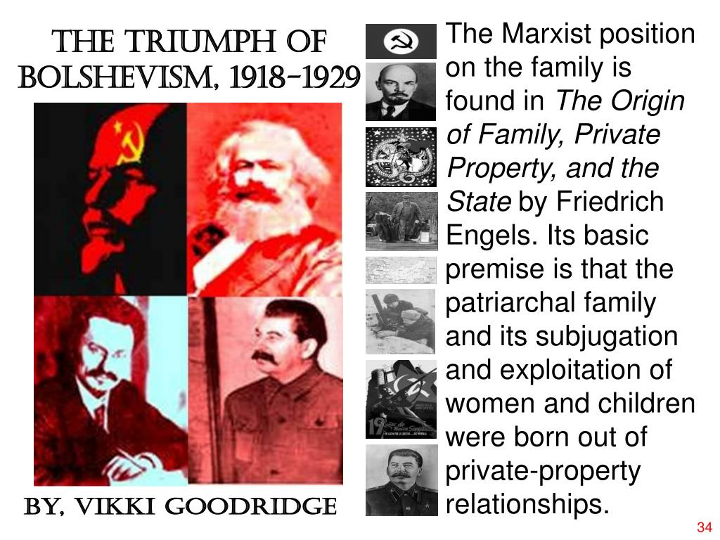 The Marxist position on the family is found in