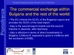 the commercial exchange within bulgaria and the rest of the world
