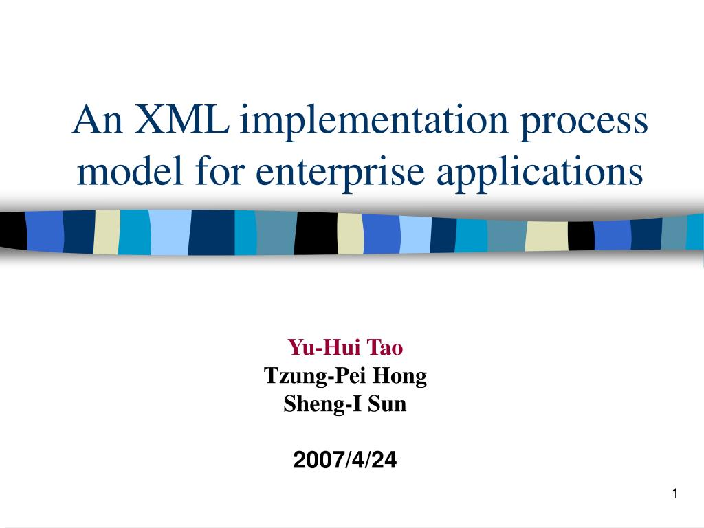 an xml implementation process model for enterprise applications l.