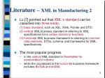 literature xml in manufacturing 2