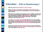 literature xml in manufacturing 3