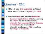 literature xml