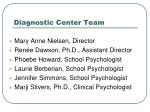 diagnostic center team