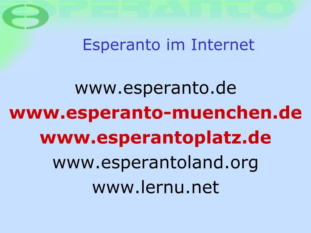 Esperanto im Internet