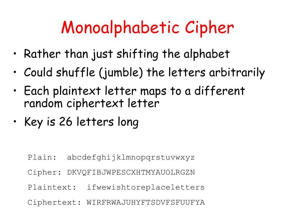 Monoalphabetic Cipher