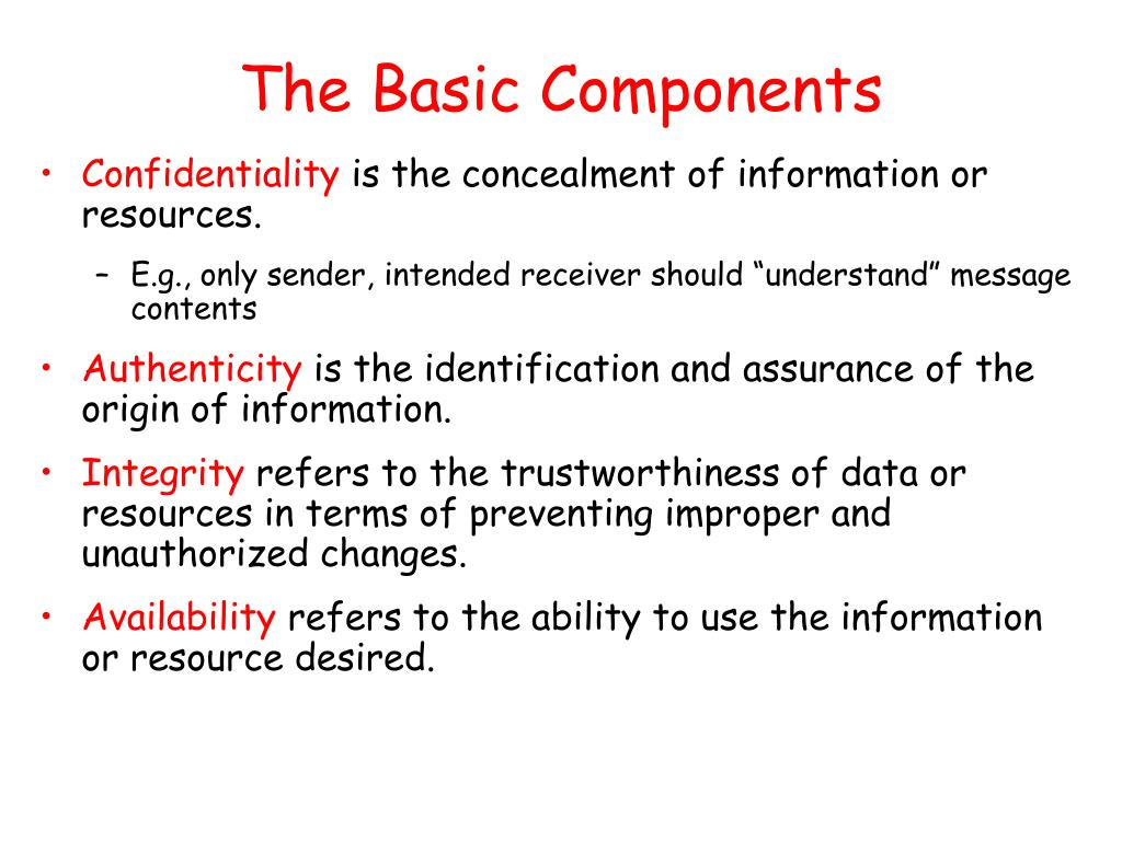 The Basic Components