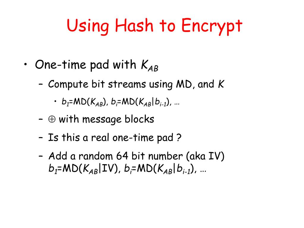 Using Hash to Encrypt