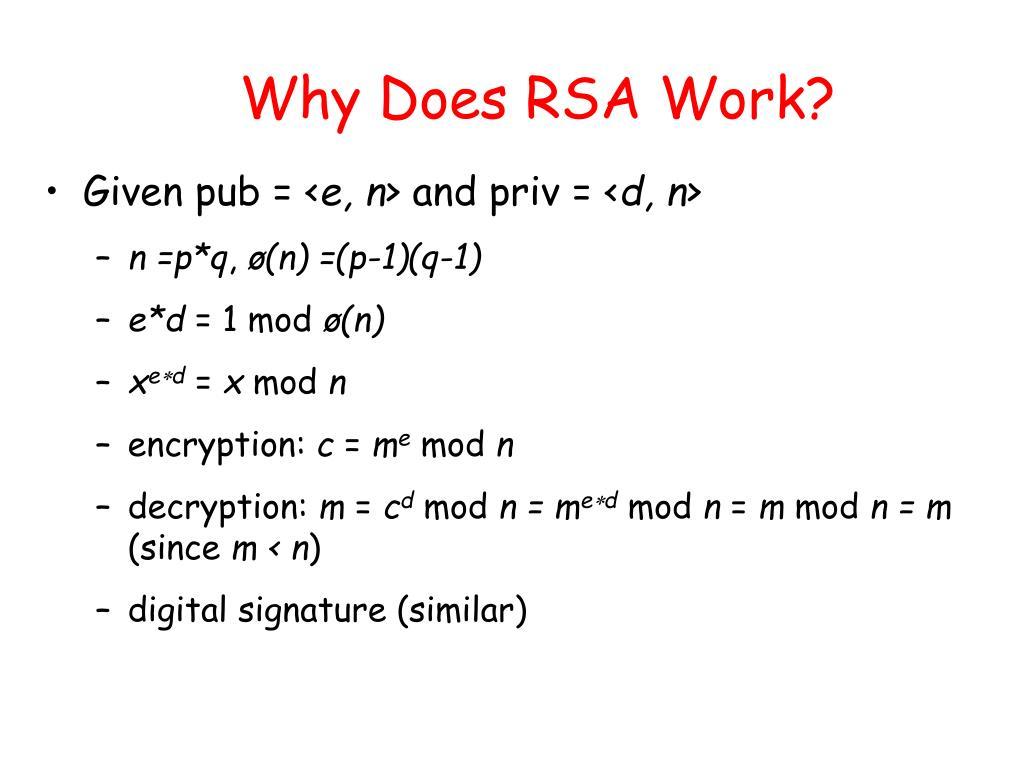 Why Does RSA Work?