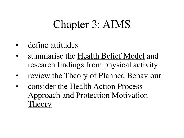 Chapter 3 aims
