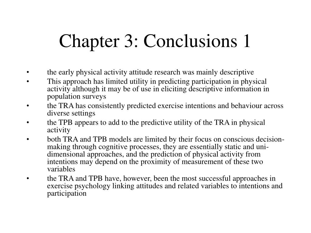 Chapter 3: Conclusions 1