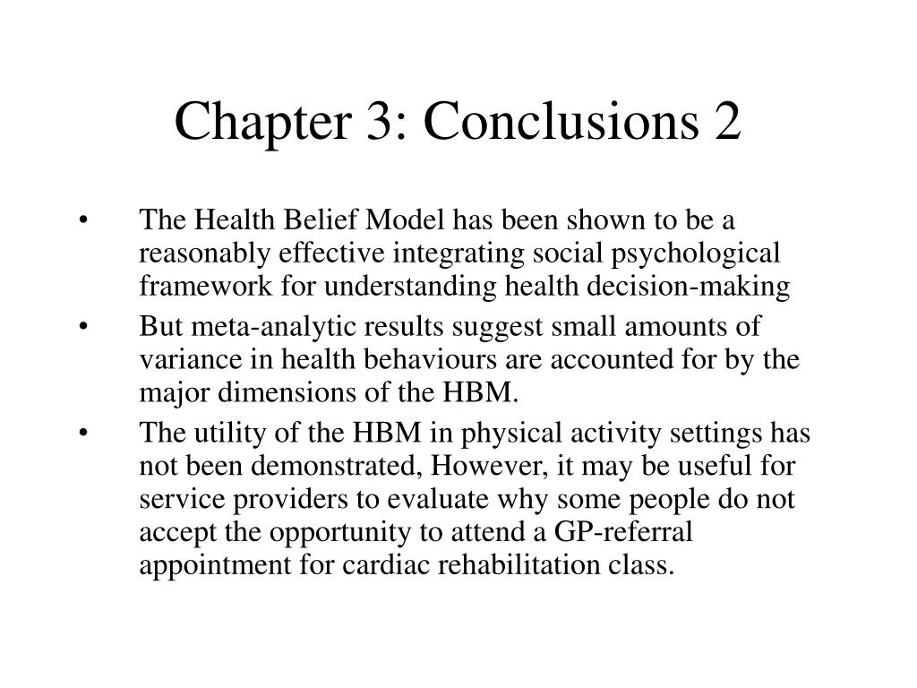 Chapter 3: Conclusions 2