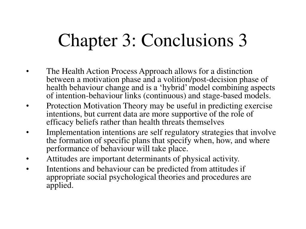 Chapter 3: Conclusions 3