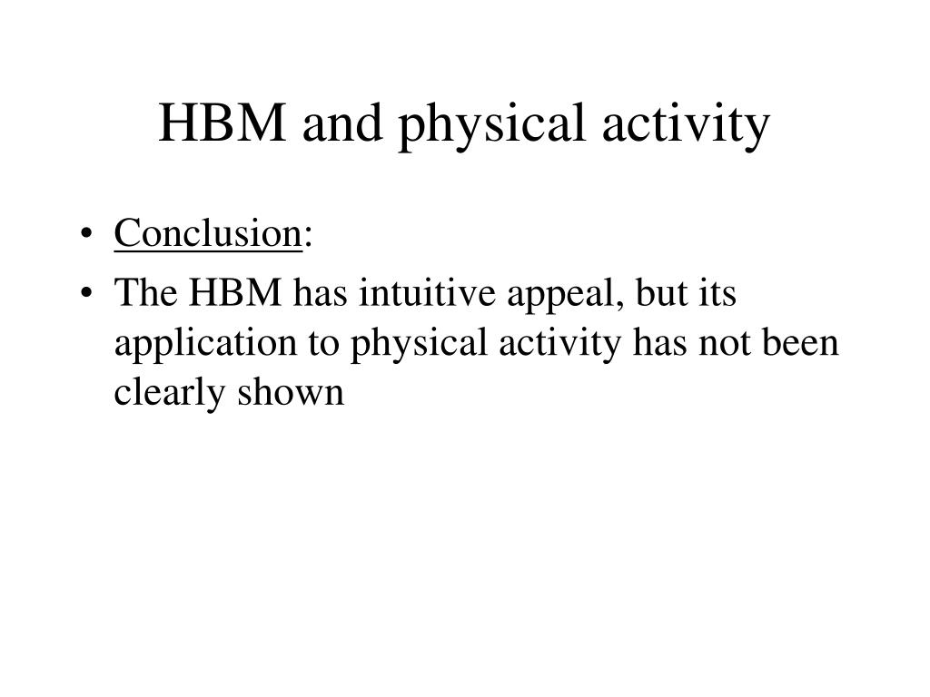HBM and physical activity