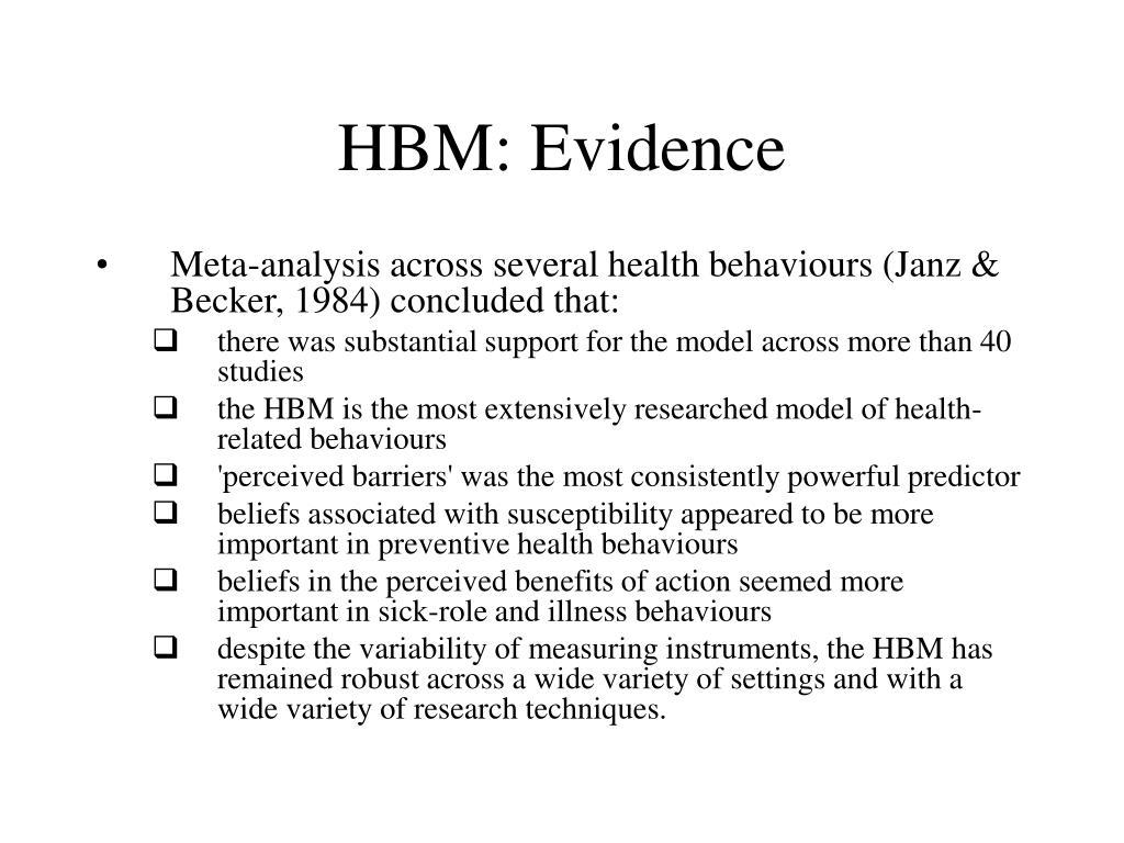 HBM: Evidence