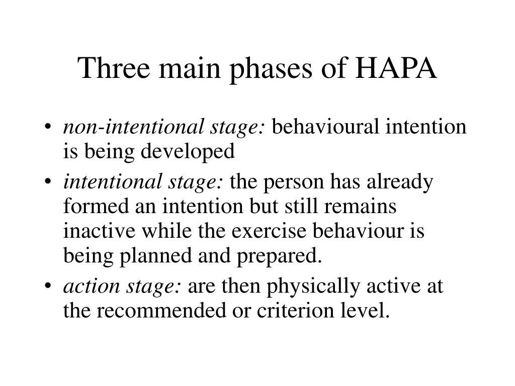 Three main phases of HAPA