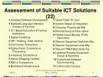 assessment of suitable ict solutions 22