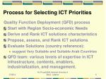 process for selecting ict priorities