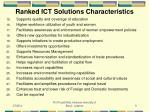 ranked ict solutions characteristics9
