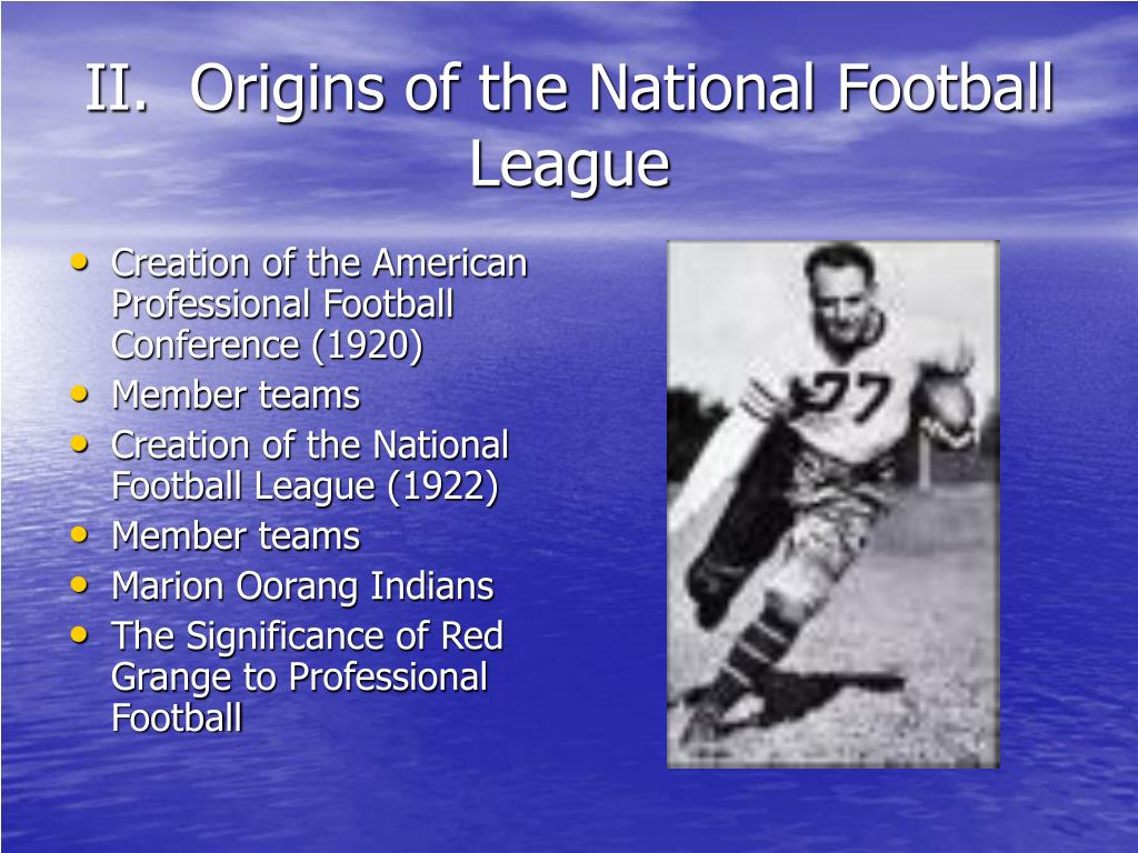 II.  Origins of the National Football League