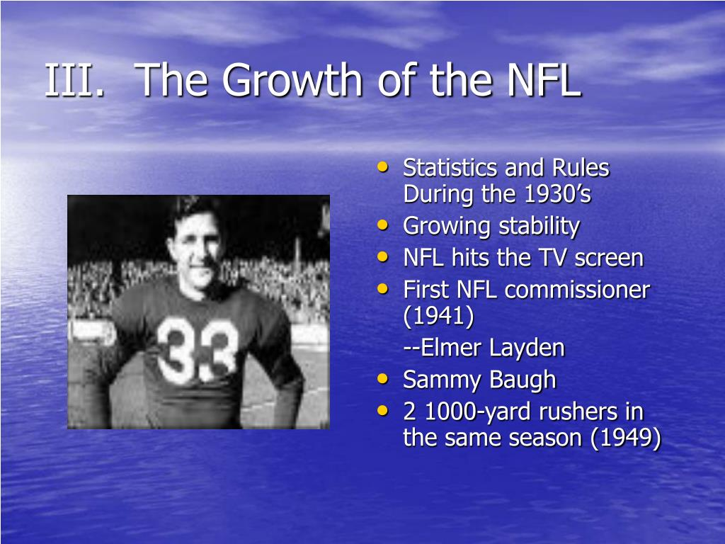 III.  The Growth of the NFL