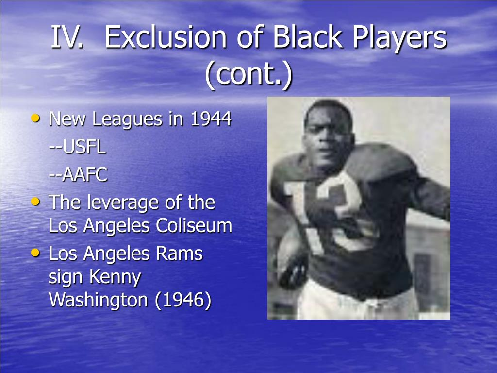 IV.  Exclusion of Black Players (cont.)