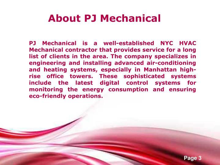 About PJ Mechanical