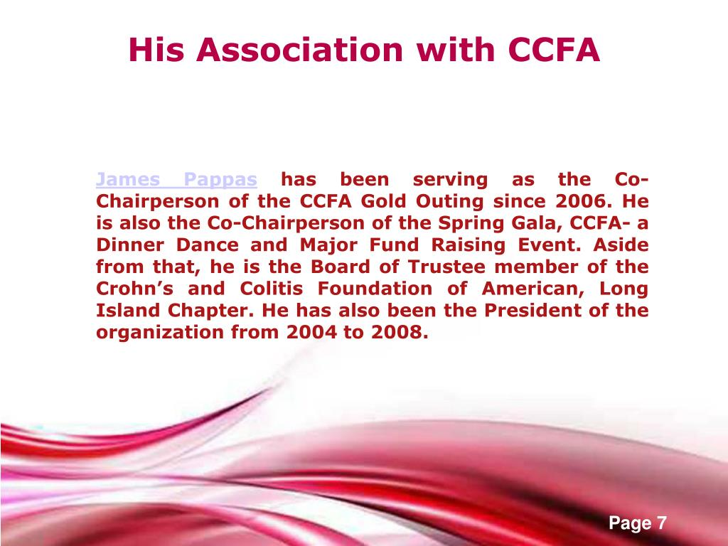 His Association with CCFA
