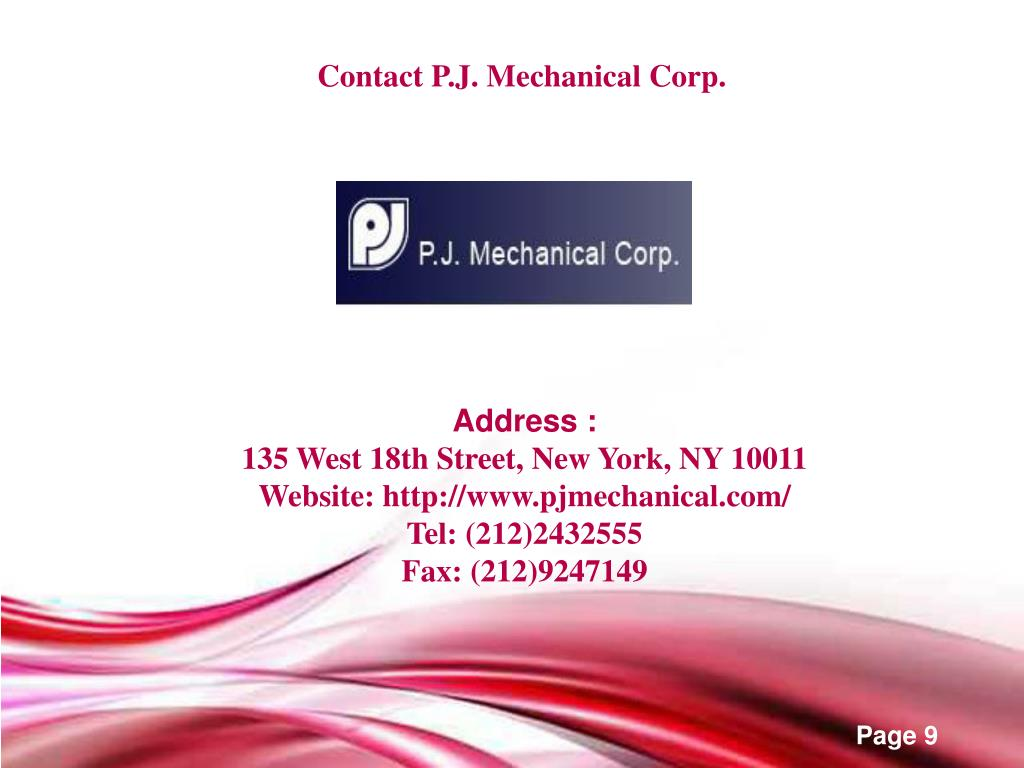 Contact P.J. Mechanical Corp.