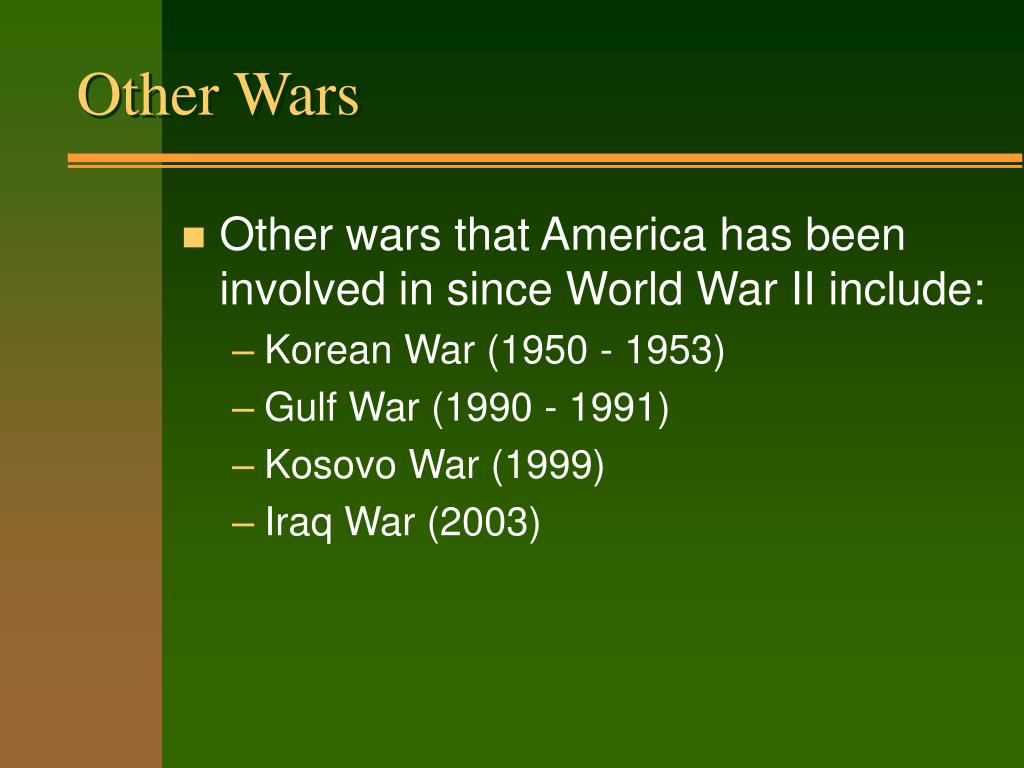 Other Wars
