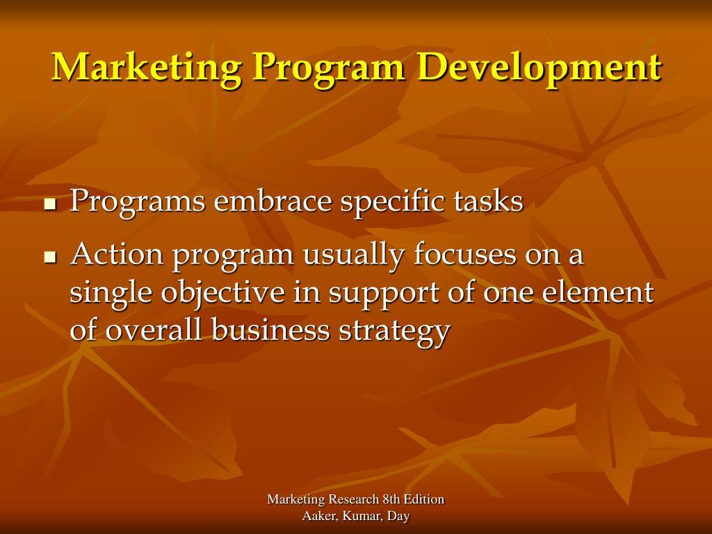 Marketing Program Development