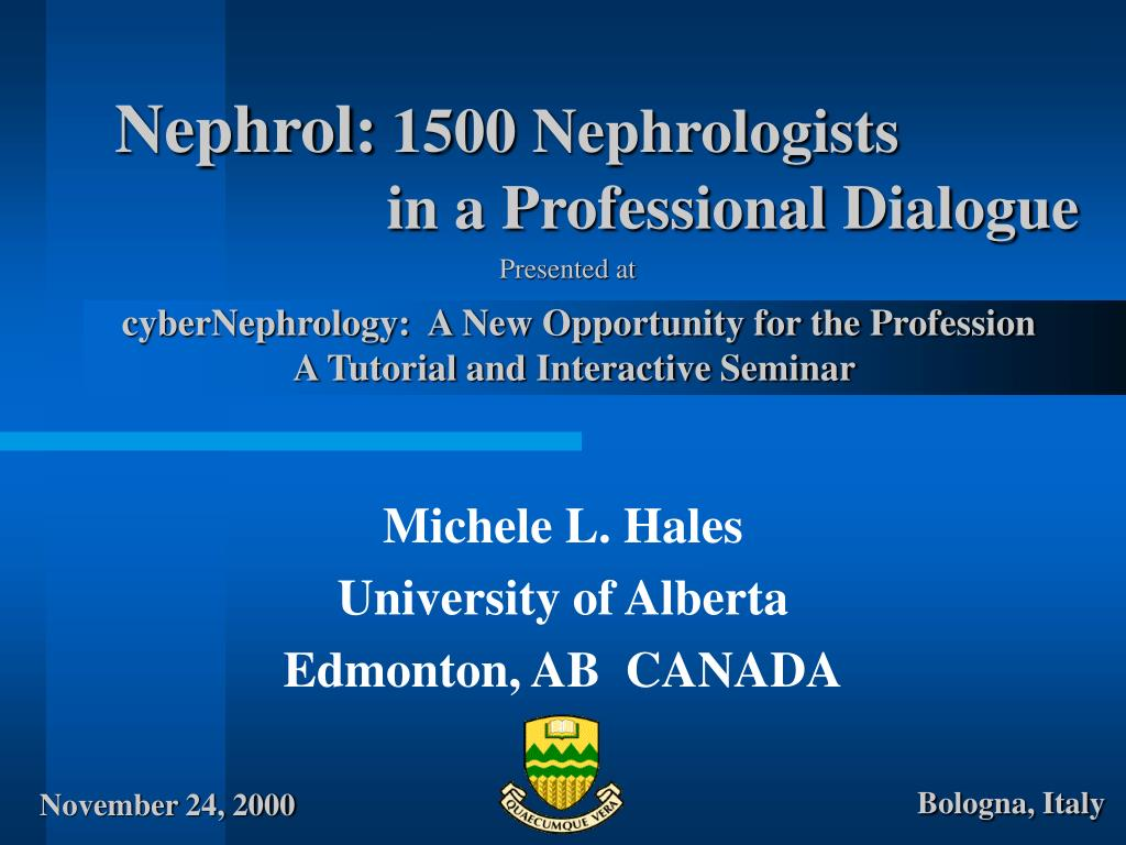 nephrol 1500 nephrologists in a professional dialogue