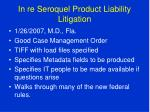 in re seroquel product liability litigation