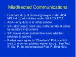 misdirected communications