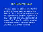 the federal rules81