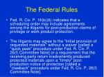 the federal rules82