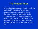 the federal rules85