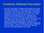 unlawfully obtained information36